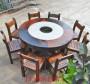 老船木餐桌椅組合客廳古船木餐桌功夫圓形餐桌