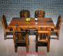 老船木餐桌椅功夫餐桌中式客厅船木餐桌组合白菜送彩金