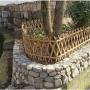 蜀山竹籬笆竹節圍欄南京市江寧竹子護欄花壇圍欄木柵欄