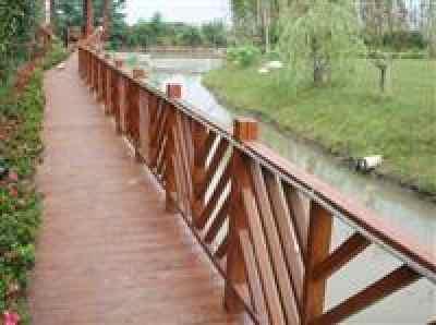 供应防腐木栏杆