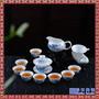 景德镇手绘盖碗茶杯青花瓷功夫茶具盖碗茶壶家用中式茶杯套装