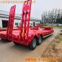 德州市13米低平板运输半挂车拉100吨价格