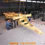 自貢市拖車-2米3米4少全掛平板拖車表一臺報價價格多少
