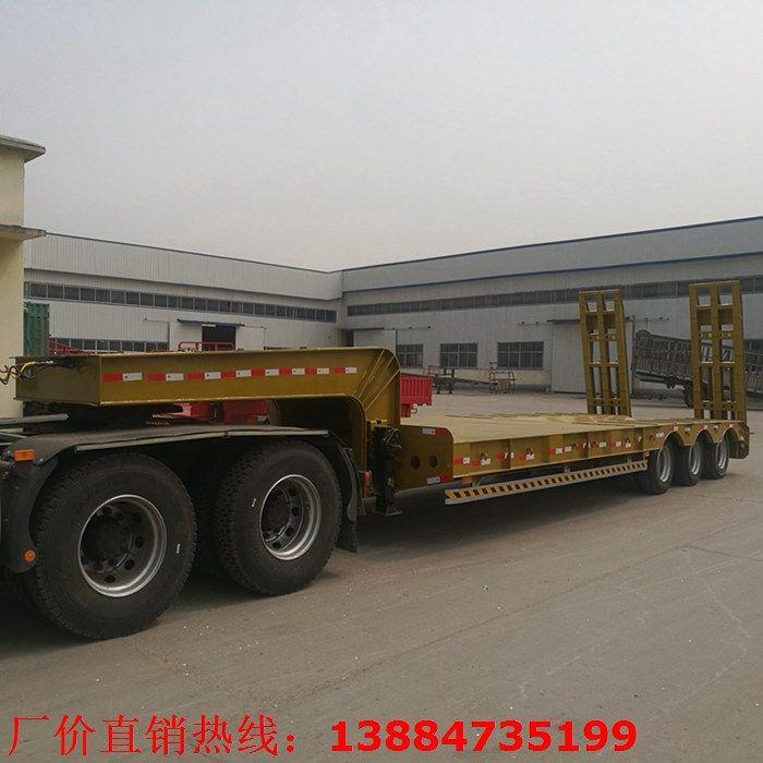 棗莊滕州50噸載重低平板掛車免費咨詢