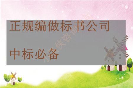 麗江玉龍納西族縣做標書公司做標書價格低