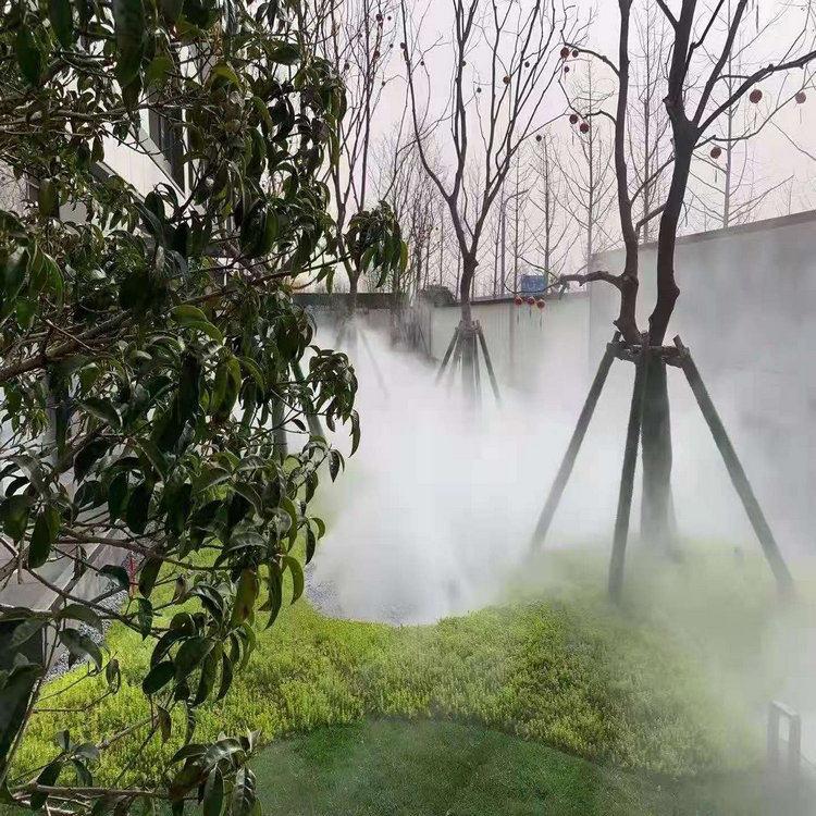 商洛園林造霧設備&園林景觀人造霧施工