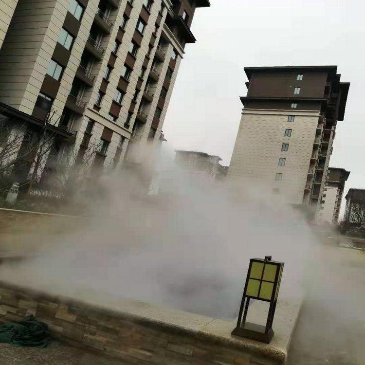 永州人造霧噴霧降溫 河道人造霧設備安裝