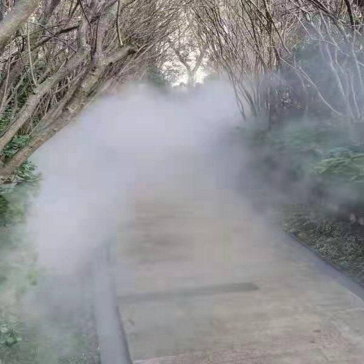 濟寧噴霧加濕系統&游樂園造霧系統實地廠家