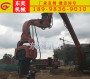 钢板桩打桩机械 挖掘机改打拔桩机