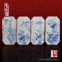 四扇屏陶瓷瓷板画