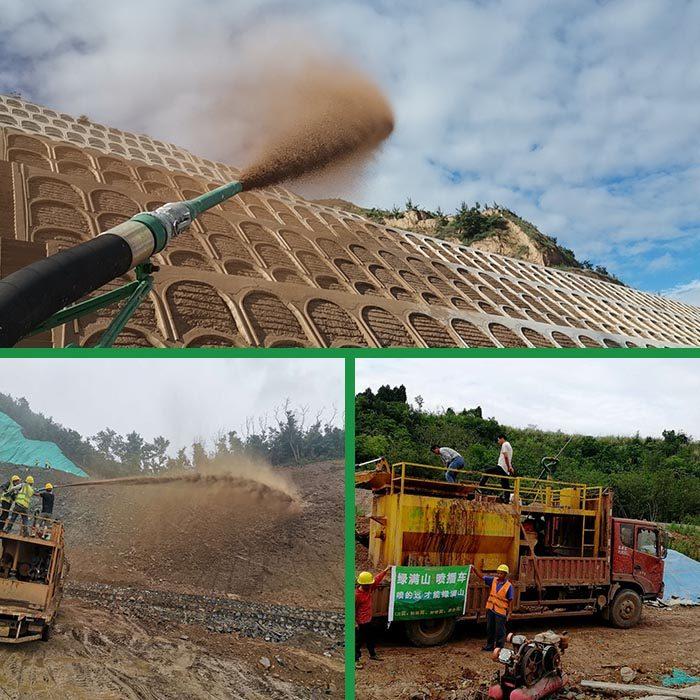 神農架礦山綠化噴播機濕噴機
