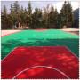 湖南郴州蘇仙軟連接籃球場懸浮拼裝地板廠家批發價